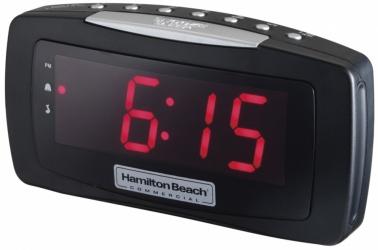 Hamilton Beach Radio Despertador HCR330, AM/FM, Negro