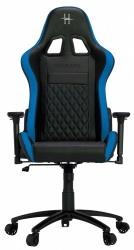 HHGears Silla Gamer XL-500, hasta 130Kg, Negro/Azul