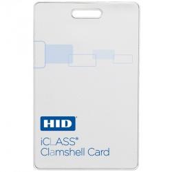 HID Tarjeta iClass Clamshell, 5.4 x 8.5cm, Blanco