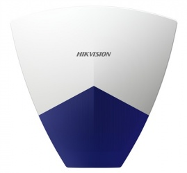 Hikvision Sirena para Exteriores DS-PSG-WO, Inalámbrica, 110dB, Azul/Blanco