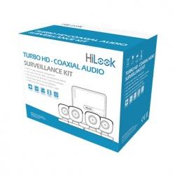 Hikvision Kit de Videovigilancia TurboHD HL1080PS de 4 Cámaras y 4 Canales, con Grabadora