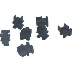 Hirschmann Tapas para Conector RJ-45, Negro, 50 Piezas