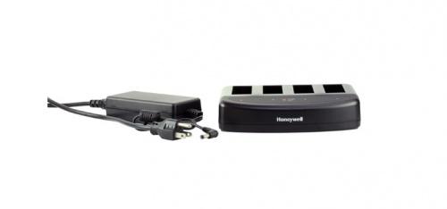 Honeywell Cargador de 4 Baterias 220540-000, Negro, para RP2/RP4