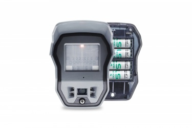 Honeywell Sensor de Movimiento PIR con Cámara para Exterior OMV611, Alámbrico, hasta 18 Metros, Gris