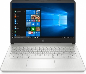 "Laptop HP 14-dq1003la 14"" HD, Intel Core i5-1035G1 1Ghz, 4GB, 256GB SSD, Windows 10 Home 64-bit, Plata ― Incluye Office 365 Personal"
