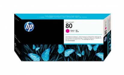 Cabezal HP 80 Magenta y Limpiador de Cabezal