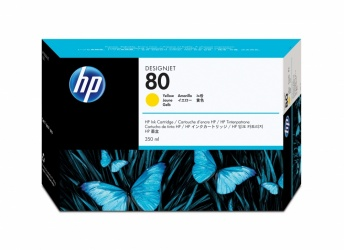 Cartucho HP 80 Amarillo 350ml