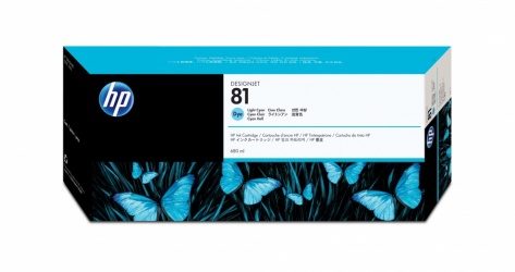 Cartucho HP 81 Cyan Claro 680ml