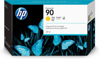 Cartucho HP 90 Amarillo 225ml
