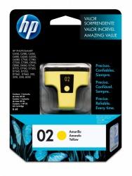 Cartucho HP 02 Amarillo, 500 Páginas