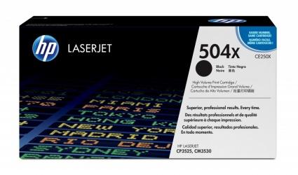 Toner HP 504A Negro, 10.500 Páginas