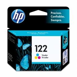 Cartucho HP 122 Tricolor, 100 Páginas ― ¡Compra y recibe $25 pesos de saldo para tu siguiente pedido!