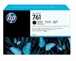 Cartucho HP 761 Negro Mate 400ml