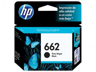 Cartucho HP 662 Negro, 120 Páginas