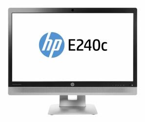 "Monitor HP EliteDisplay E240c LED 23.8"", Full HD, Widescreen, HDMI, Negro/Plata"