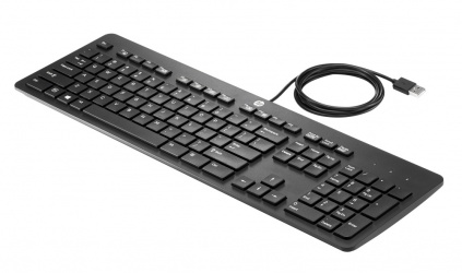 Teclado HP USB Business Slim Keyboard, Alámbrico, USB, Negro, (Español)
