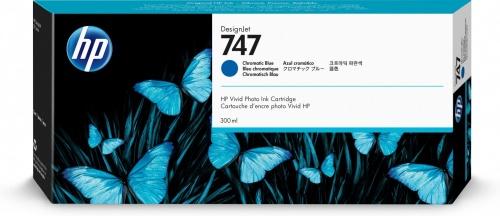 Cartucho HP 747 Azul Cromático, 300ml
