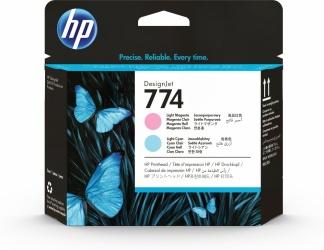 Cabezal HP 774 Paquete de 2 Piezas Cyan Claro y Magenta Claro
