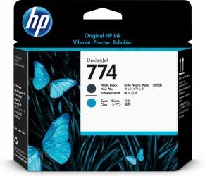 Cabezal HP 774 Paquete de 2 Piezas Negro Mate y Cyan