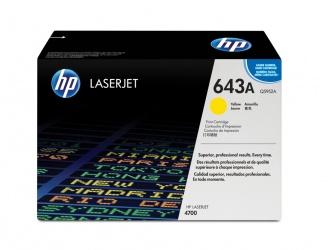 Tóner HP 643A Amarillo, 10.000 Páginas