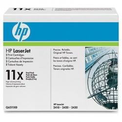 Toner HP 11x Paquete Doble Negro, 2 x 12.000 Páginas