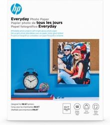 HP Papel Fotográfico Semi-Satinado, 50 Hojas, 8.5'' x 11'
