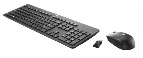 Kit Teclado y Mouse HP T6L04AA, Inalámbrico, USB, Negro