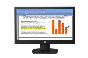 Monitor HP V194 LED 18.5'', HD, Widescreen, Negro