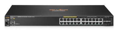 Switch HPE Gigabit Ethernet 2530-24G-PoE+, 24 Puertos 10/100/1000Mbps + 4 Puertos SFP , 56Gbit/s - Gestionado