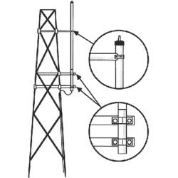 Hustler Kit para Montaje Lateral de Antenas en Torre, Metálico