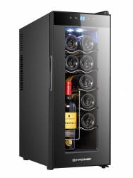 Hypermark Enfriador y Cava de Vinos HM0026CV, Negro, para 12 Botellas