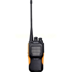 Hytera Radio Análogo Portátil de 2 Vías TC-610P-UHF, 16 Canales, Negro/Naranja