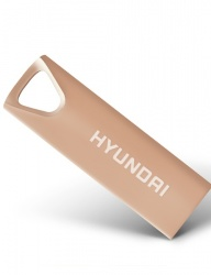 Memoria USB Hyundai Bravo Deluxe, 16GB, USB 2.0, Oro Rosado
