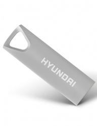 Memoria USB Hyundai Bravo Deluxe, 16GB, USB 2.0, Plata