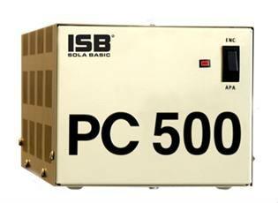 Regulador Industrias Sola Basic PC-500, 500VA, Entrada 100-127V