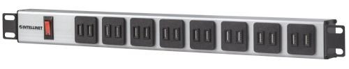 Intellinet PDU para Rack 1U 164603, 15A, 110V, 16x USB