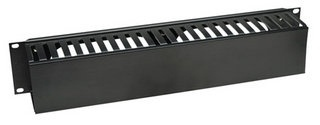 Intellinet Organizador Horizontal de Cables con Tapa de Plástico para Rack/Gabinete 19'', 2U