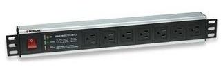Intellinet Barra Multicontacto de 7 Posiciones para Rack/Gabinete 19'' - Tipo EEUU