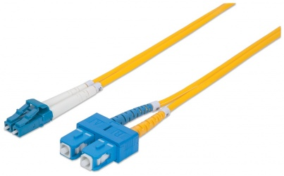 Intellinet Cable Fibra Óptica Monomodo OS2 LC Macho - SC Macho, 2 Metros, Amarillo