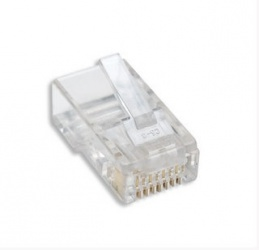 Intellinet Plug Modular RJ-45, Cat6, Transparente