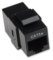 Intellinet Jack de Red Cat5e, RJ-45, Negro