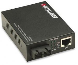 Intellinet Convertidor de Medios Fast Ethernet a Fibra Multimodo SC, 2000 Metros, 100 Mbit/s