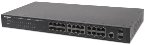 Switch Intellinet Gigabit Ethernet 560559, 24 Puertos 10/100/1000Mbps, 52 Gbit/s, 16.000 Entradas - Gestionado