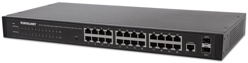Switch Intellinet Gigabit Ethernet 560917, 10/100/1000Mbps, 24 Puertos, 8000 entradas - Gestionado