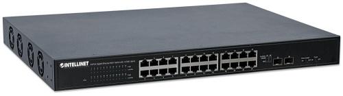 Switch Intelllinet Gigabit Ethernet 561143, 24 Puertos 10/100/1000Mbps + 2 Puertos SFP+, 88 Gbit/s, 16.000 Entradas - No Administrable