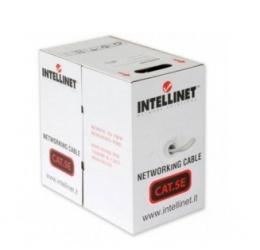 Intellinet Bobina de Cable Cat5e UTP, 100 Metros, Gris