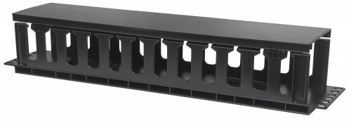 Intellinet Organizador de Cables Horizontal 2U, RJ-45, Negro