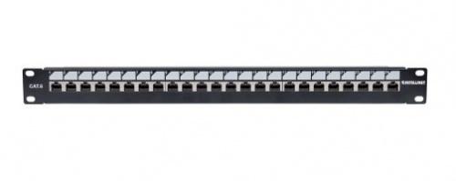 Intellinet Panel de Parcheo 1U, 24 Puertos RJ-45, Negro