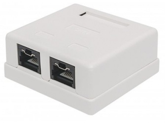 Intellinet Caja Cat6 UTP, 2x RJ-45, Blanco