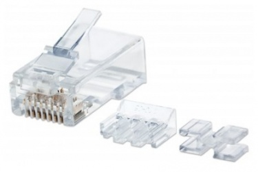Intellinet Jack Cat6a STP, RJ-45, Transparente, 80 Piezas